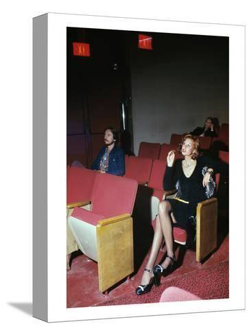 Vogue - September 1972 - Woman in Movie Theater-Kourken Pakchanian-Stretched Canvas Print