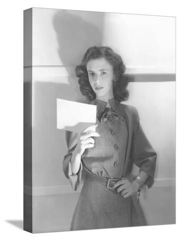 Vogue - July 1944-Horst P. Horst-Stretched Canvas Print