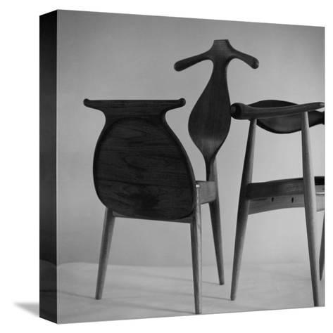 Handmade Chair and Clotheshorse by Hans Wegner of Denmark--Stretched Canvas Print
