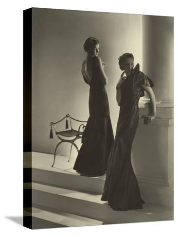 Vogue - November 1934-Horst P. Horst-Stretched Canvas Print