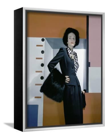 Vogue - October 1942-Horst P. Horst-Framed Canvas Print