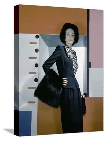 Vogue - October 1942-Horst P. Horst-Stretched Canvas Print