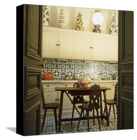 Duplicate of the Kitchen in Contessa Brandolini D'Adda's Paris Apartment--Stretched Canvas Print
