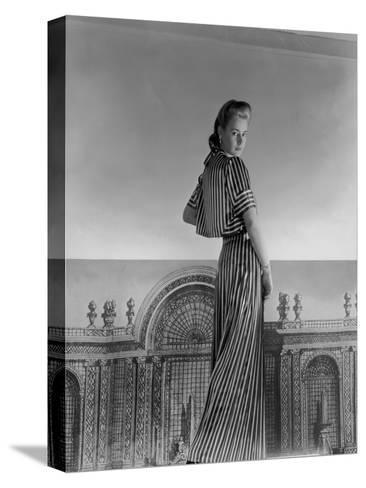Vogue - July 1940-Horst P. Horst-Stretched Canvas Print
