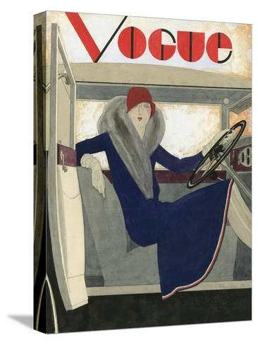 Vogue - March 1929-Pierre Mourgue-Stretched Canvas Print