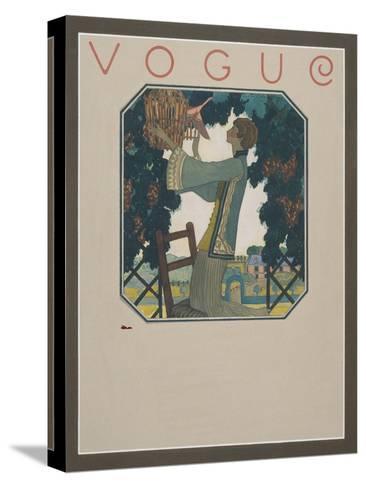 Vogue - September 1922-Leslie Saalburg-Stretched Canvas Print