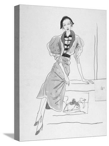 Vogue - March 1935-Cecil Beaton-Stretched Canvas Print