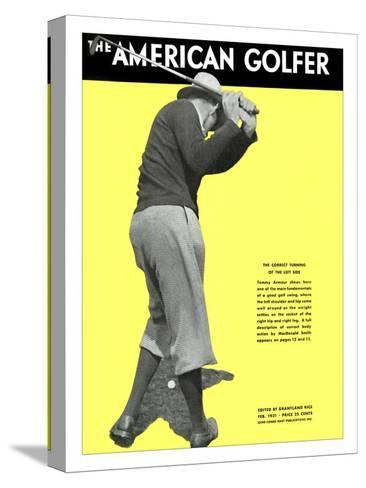 The American Golfer February 1931--Stretched Canvas Print