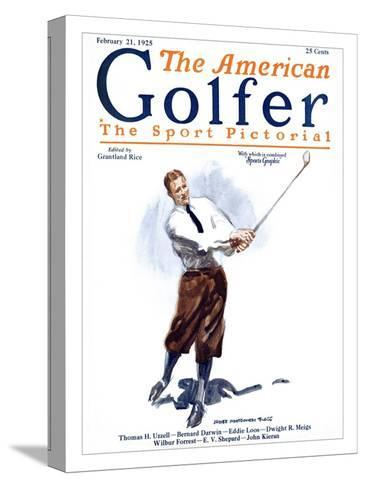 The American Golfer February 21, 1925-James Montgomery Flagg-Stretched Canvas Print