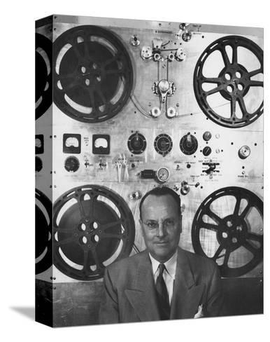 Vogue - February 1952 - Hollywood Sound Equipment Inventor-Howard Jean-Stretched Canvas Print