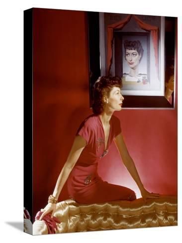 Vogue - September 1943-Horst P. Horst-Stretched Canvas Print