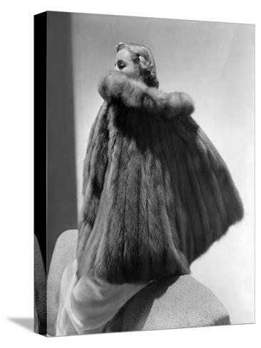 Vogue - January 1938-Horst P. Horst-Stretched Canvas Print