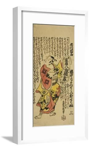 The Actor Ichikawa Danjuro II as Soga No Goro in the Play Soga Koyomi Biraki, 1723-Torii Kiyotomo-Framed Art Print