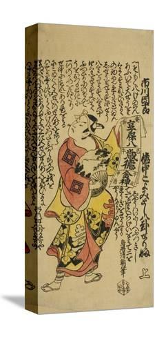 The Actor Ichikawa Danjuro II as Soga No Goro in the Play Soga Koyomi Biraki, 1723-Torii Kiyotomo-Stretched Canvas Print