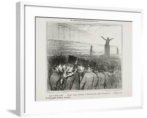 View of the Grand Hall, Plate 1 from Souvenir Du Grand Festival Des Orphéonistes, 1859-Honore Daumier-Framed Art Print