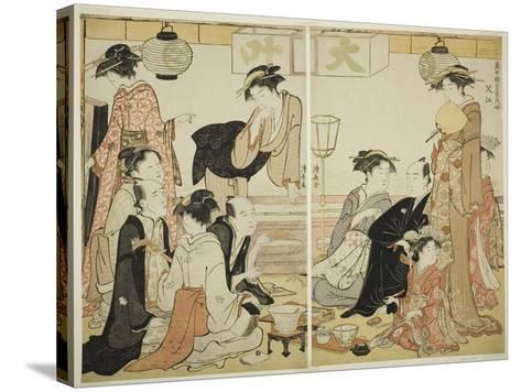 Entertainers of Nakazu, C.1784-Torii Kiyonaga-Stretched Canvas Print