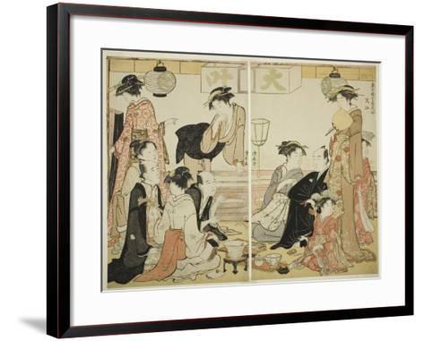 Entertainers of Nakazu, C.1784-Torii Kiyonaga-Framed Art Print