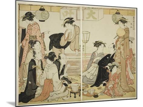 Entertainers of Nakazu, C.1784-Torii Kiyonaga-Mounted Giclee Print
