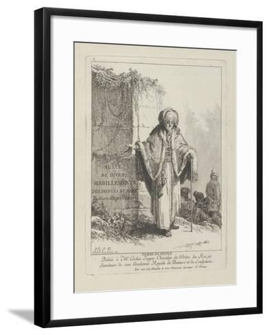 Woman of the People, Plate One from 'Divers Habillements Des Peuples Du Nord', 1765-Jean-Baptiste Le Prince-Framed Art Print