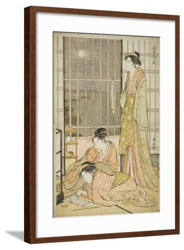The Ninth Month, from the Series Twelve Months in the South (Minami Juni Ko), C.1784-Torii Kiyonaga-Framed Art Print