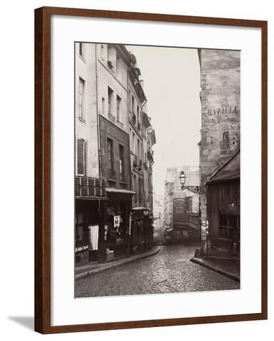 Rue De La Montagne-Sainte-Geneviève Near the Intersection of Rue Laplace, 1865-69-Charles Marville-Framed Art Print