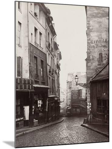 Rue De La Montagne-Sainte-Geneviève Near the Intersection of Rue Laplace, 1865-69-Charles Marville-Mounted Photographic Print