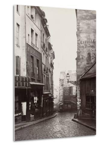 Rue De La Montagne-Sainte-Geneviève Near the Intersection of Rue Laplace, 1865-69-Charles Marville-Metal Print