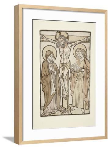 Christ on the Cross Between Mary and Saint John, 1460-70--Framed Art Print