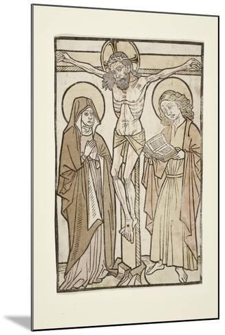 Christ on the Cross Between Mary and Saint John, 1460-70--Mounted Giclee Print