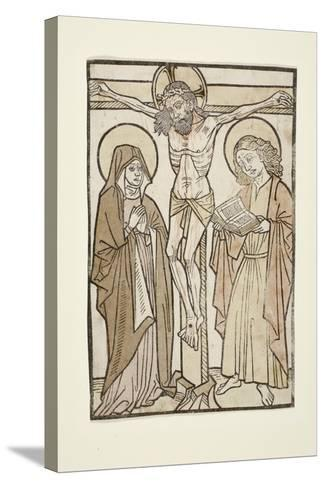 Christ on the Cross Between Mary and Saint John, 1460-70--Stretched Canvas Print