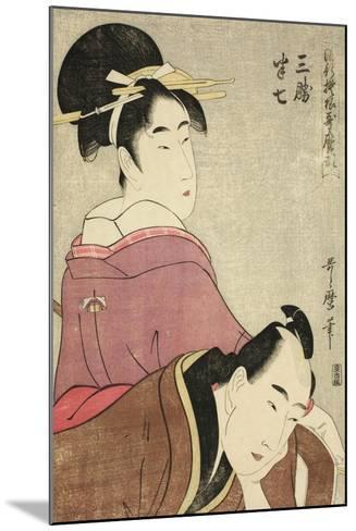 Sankatsu and Hanshichi, from the Series Fashionable Patterns in Utamaro Style, C.1798-99-Kitagawa Utamaro-Mounted Giclee Print
