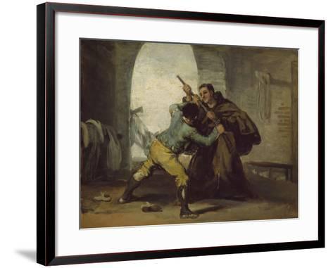 Friar Pedro Wrests the Gun from El Maragato, C.1806-Francisco de Goya-Framed Art Print