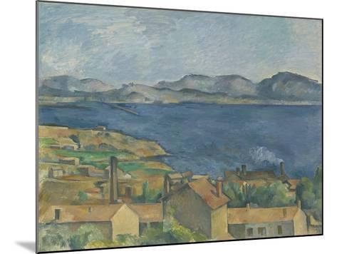 The Bay of Marseille, Seen from L'Estaque, C.1885-Paul Cezanne-Mounted Giclee Print