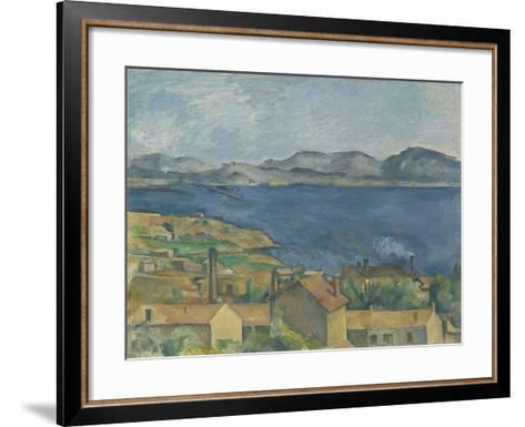 The Bay of Marseille, Seen from L'Estaque, C.1885-Paul Cezanne-Framed Art Print