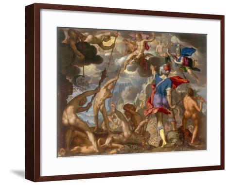 The Battle Between the Gods and the Giants, C.1608-Joachim Wtewael-Framed Art Print