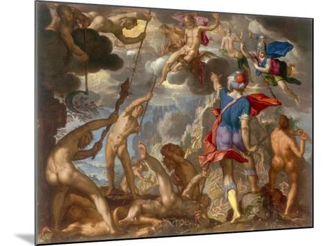 The Battle Between the Gods and the Giants, C.1608-Joachim Wtewael-Mounted Giclee Print