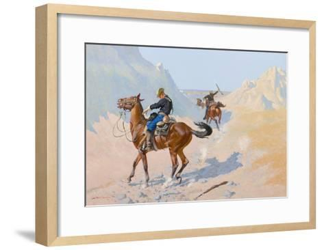 The Advance-Guard, or the Military Sacrifice (The Ambush), 1890-Frederic Remington-Framed Art Print