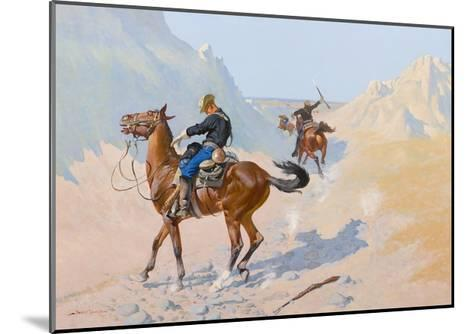 The Advance-Guard, or the Military Sacrifice (The Ambush), 1890-Frederic Remington-Mounted Giclee Print