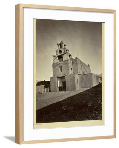 The Church of San Miguel, the Oldest in Santa Fe, N.M., 1873-Timothy O'Sullivan-Framed Art Print