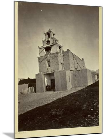 The Church of San Miguel, the Oldest in Santa Fe, N.M., 1873-Timothy O'Sullivan-Mounted Photographic Print