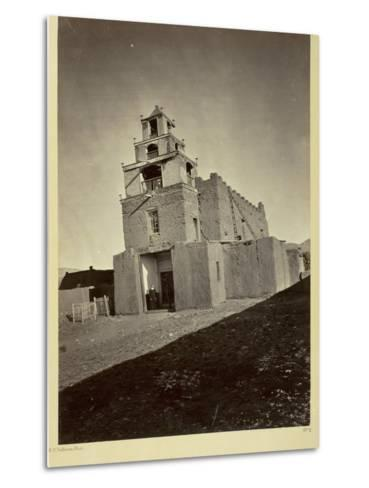 The Church of San Miguel, the Oldest in Santa Fe, N.M., 1873-Timothy O'Sullivan-Metal Print