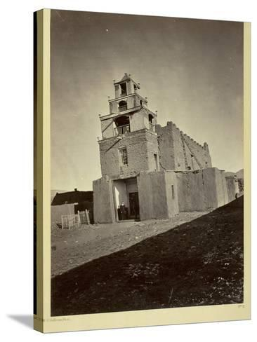 The Church of San Miguel, the Oldest in Santa Fe, N.M., 1873-Timothy O'Sullivan-Stretched Canvas Print