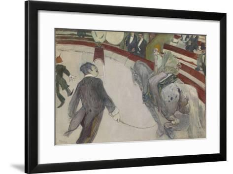 Equestrienne (At the Cirque Fernando), 1887-88-Henri de Toulouse-Lautrec-Framed Art Print