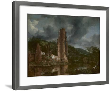 Landscape with the Ruins of the Castle of Egmond, 1650-55-Jacob van Ruisdael-Framed Art Print