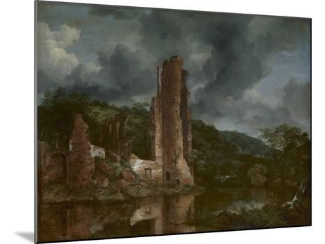 Landscape with the Ruins of the Castle of Egmond, 1650-55-Jacob van Ruisdael-Mounted Giclee Print