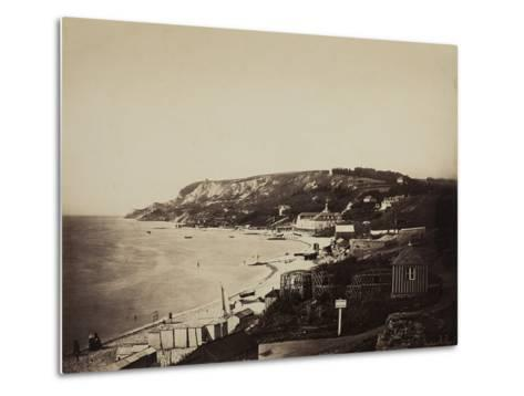 The Beach at Sainte-Adresse, with the Dumont Baths, 1856-57-Gustave Le Gray-Metal Print