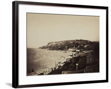 The Beach at Sainte-Adresse, with the Dumont Baths, 1856-57-Gustave Le Gray-Framed Art Print