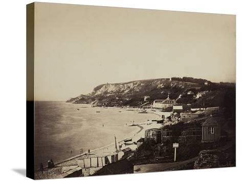 The Beach at Sainte-Adresse, with the Dumont Baths, 1856-57-Gustave Le Gray-Stretched Canvas Print