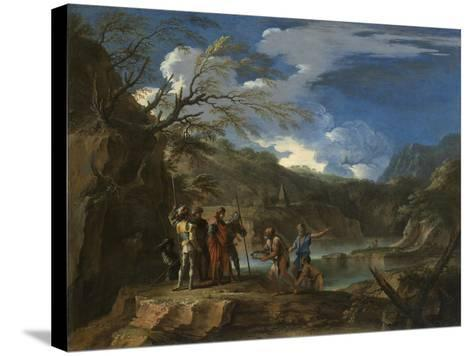 Polycrates and the Fisherman, C.1664-Salvator Rosa-Stretched Canvas Print