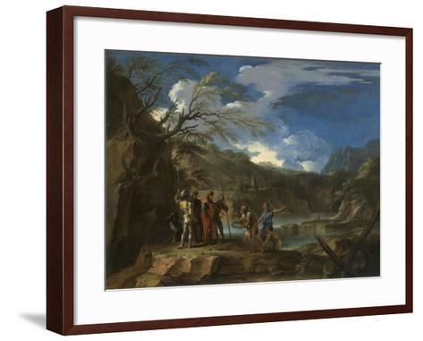 Polycrates and the Fisherman, C.1664-Salvator Rosa-Framed Art Print